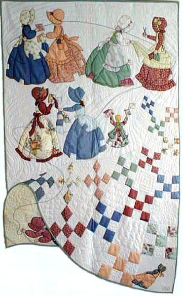 Лоскутное шитье и аппликация. Журнал Bonnet Girls (14) (371x599, 221Kb)