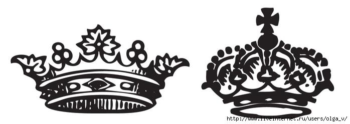 картинка черно-белая корона