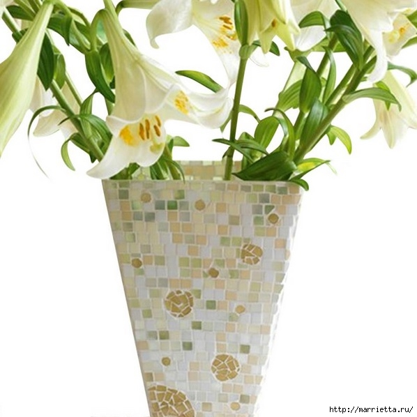 Декорирование стеклянной вазы мозаикой (1) (598x598, 143Kb)