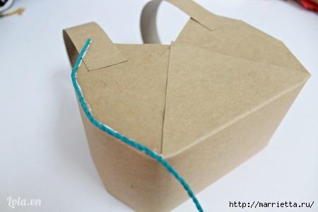 Сумочка-корзинка из картона (1) (450x300, 54Kb)