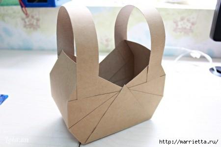 Сумочка-корзинка из картона (3) (450x300, 56Kb)