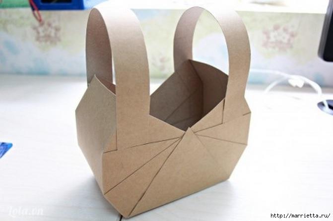 Сумочка-корзинка из картона (11) (671x446, 103Kb)
