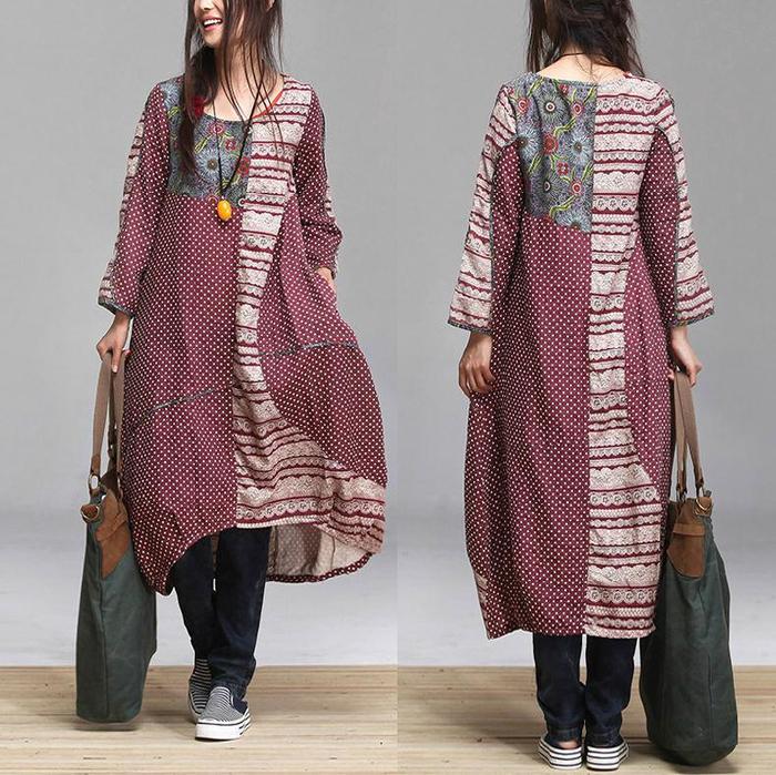 Женская Одежда Для Полных В Стиле Пэчворк Купить