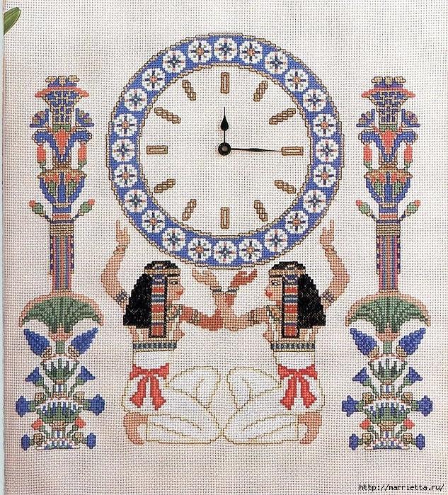 Вышивка крестом. ЧАСЫ (18) (633x700, 624Kb)