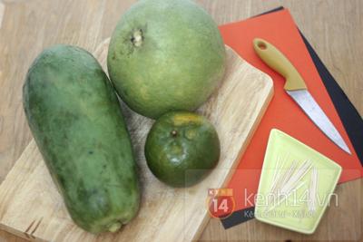 Цитрусовый карвинг. БОЛОНКА из грейпфрута, папайи и апельсина (9) (400x267, 162Kb)