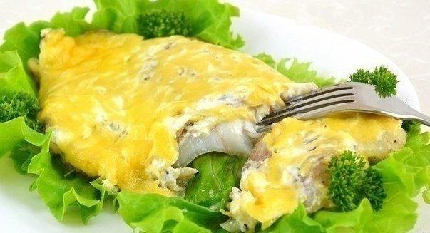 Рыба, запеченная с сыром (603x327, 44Kb)