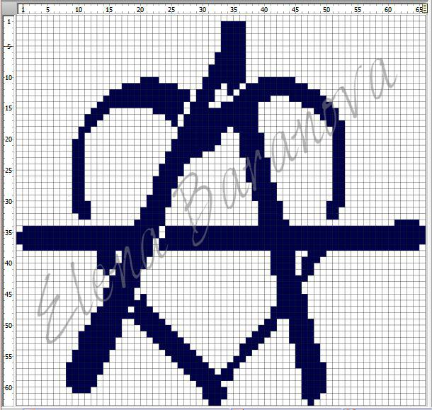 Рок схемы вышивки крестом