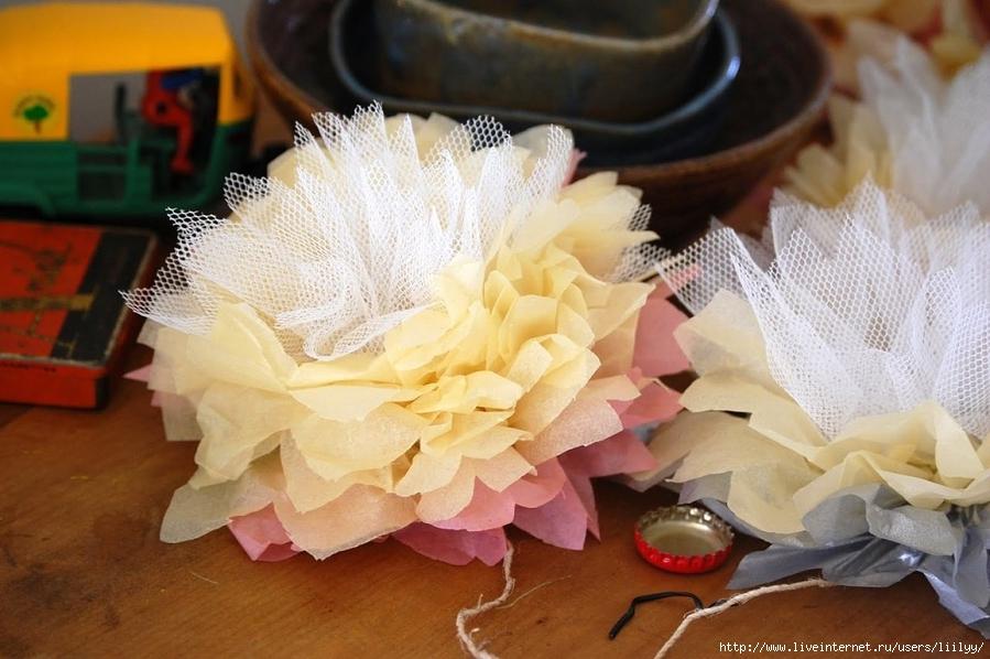 Цветы своими руками из тюля
