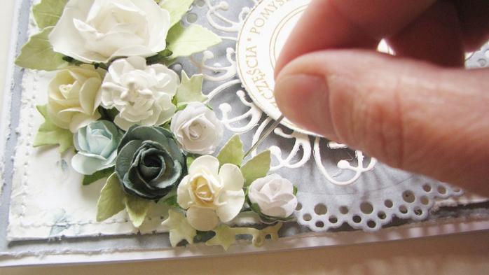 открытка сс цветами крапбукинг