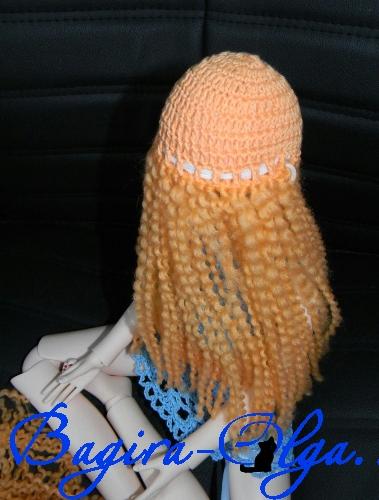 Парик из ниток своими руками, как сделать парик из ниток, как сделать волосы кукле, мастер класс как сделать кукле волосы из ниток,