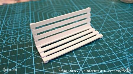 Как сделать скамейку из бумаги