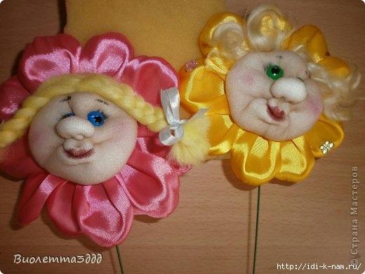 колготочные куклы, колготочный цветочек, цветок из капрона,