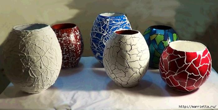 Цветочные вазы и папье-маше. Видео мастер-класс (1) (700x352, 182Kb)
