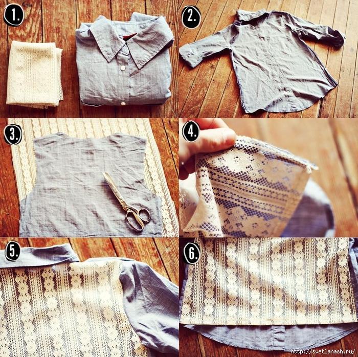 Как украсить джинсовую рубашку своими руками фото