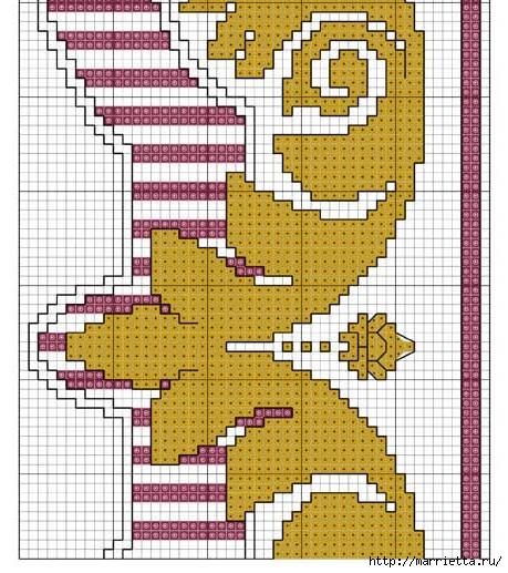 Стильная вышивка для скатерти. Схема (4) (459x517, 223Kb)
