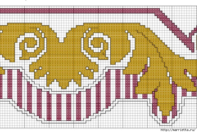 Стильная вышивка для скатерти. Схема (6) (682x463, 316Kb)