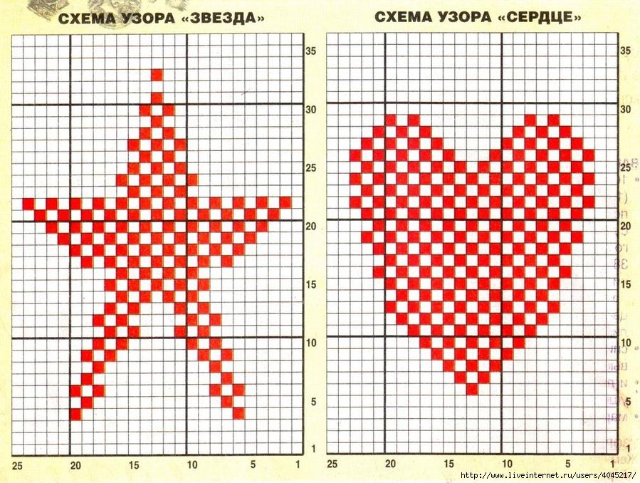 Схема вязание звездочка спицами