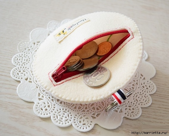 Брелок - кошелек с цветком из фетра (5) (567x454, 147Kb)