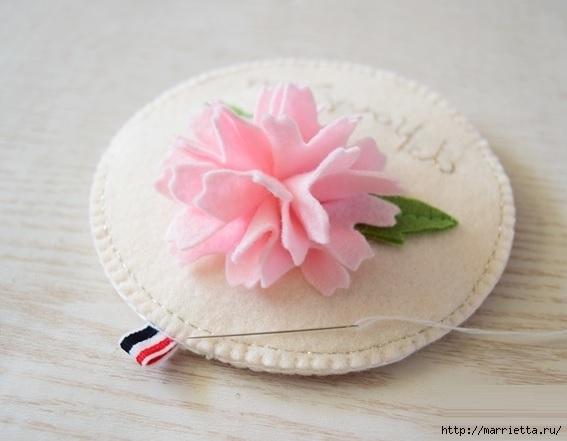 Брелок - кошелек с цветком из фетра (17) (567x441, 104Kb)