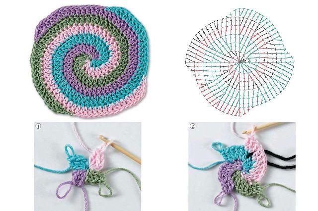 Спирального вязания крючком