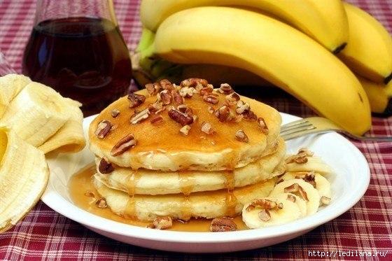 Нежные банановые оладьи к завтраку