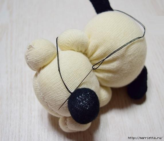 собачка из носков. мастер-класс (24) (572x493, 123Kb)