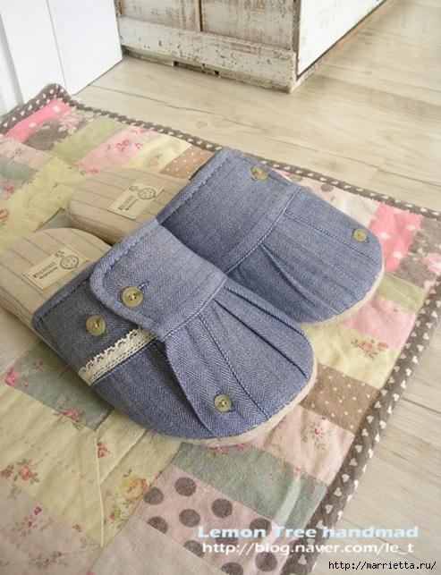 Шьем тапочки и прихватки из джинсовой рубашки (20) (493x643, 207Kb)