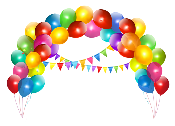 Transparent_Balloon_Arch_with_Decoration_Clipart (600x432, 178Kb)