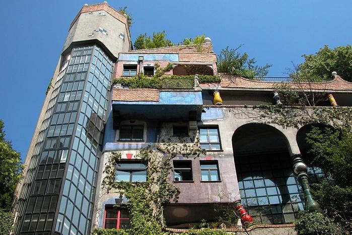 Дом Хундертвассера (Вена, Австрия)2 (700x466, 300Kb)