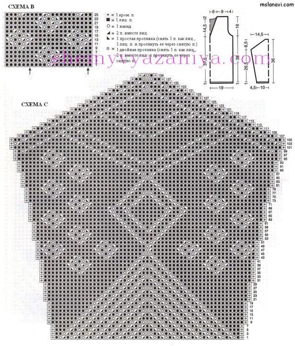 Ажурный-пуловер-спицами-схемы-1 (597x700, 193Kb)