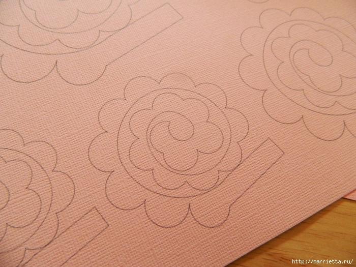 Розочки из бумаги для осеннего венка. Шаблон  (1) (700x525, 319Kb)