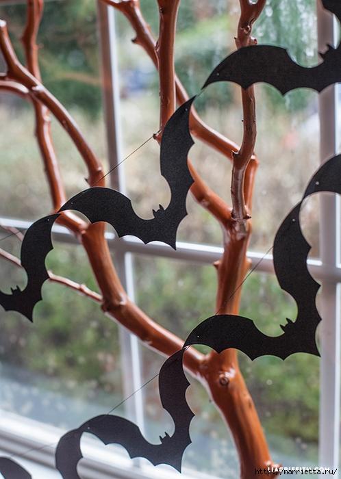 К Хэллоуину. Гирлянда черных летучих мышей (3) (498x700, 259Kb)