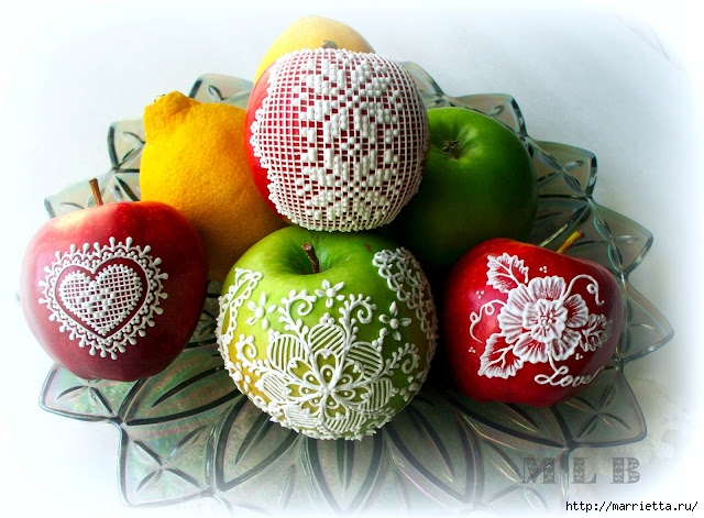 рисуем на яблоках королевской глазурью (7) (640x471, 234Kb)