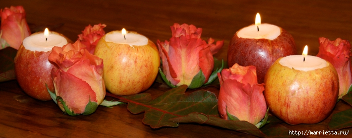 ЯБЛОКИ в интерьере. Самые красивые идеи осеннего декора (59) (700x274, 158Kb)