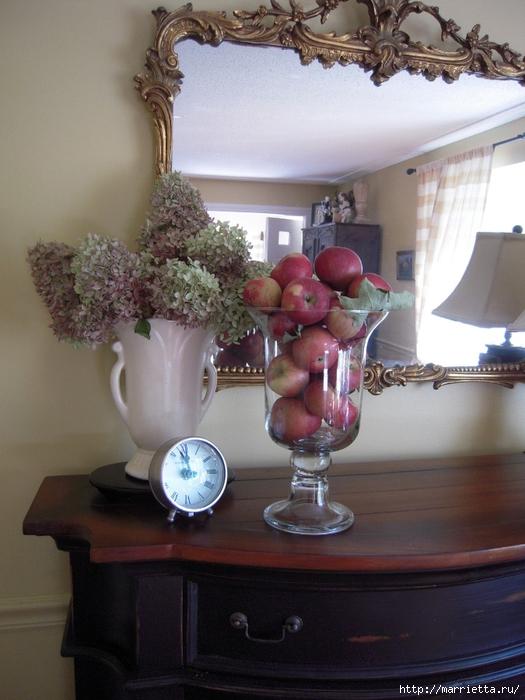 ЯБЛОКИ в интерьере. Самые красивые идеи осеннего декора (98) (525x700, 266Kb)