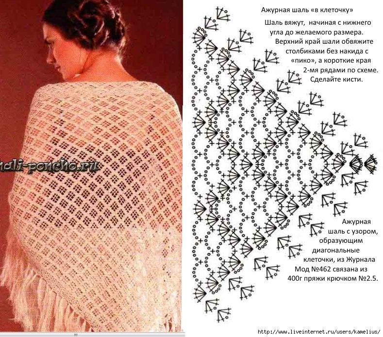 Вязание простые шали