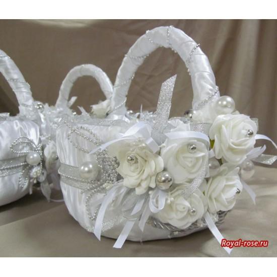 Розы из ткани и свадебная корзинка из картона своими руками (4) (550x550, 178Kb)
