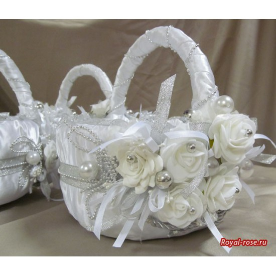 Украсить свадебную корзину мастер класс 185