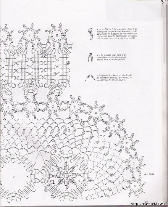 Брюггское кружево крючком. Салфетки (65) (568x700, 307Kb)