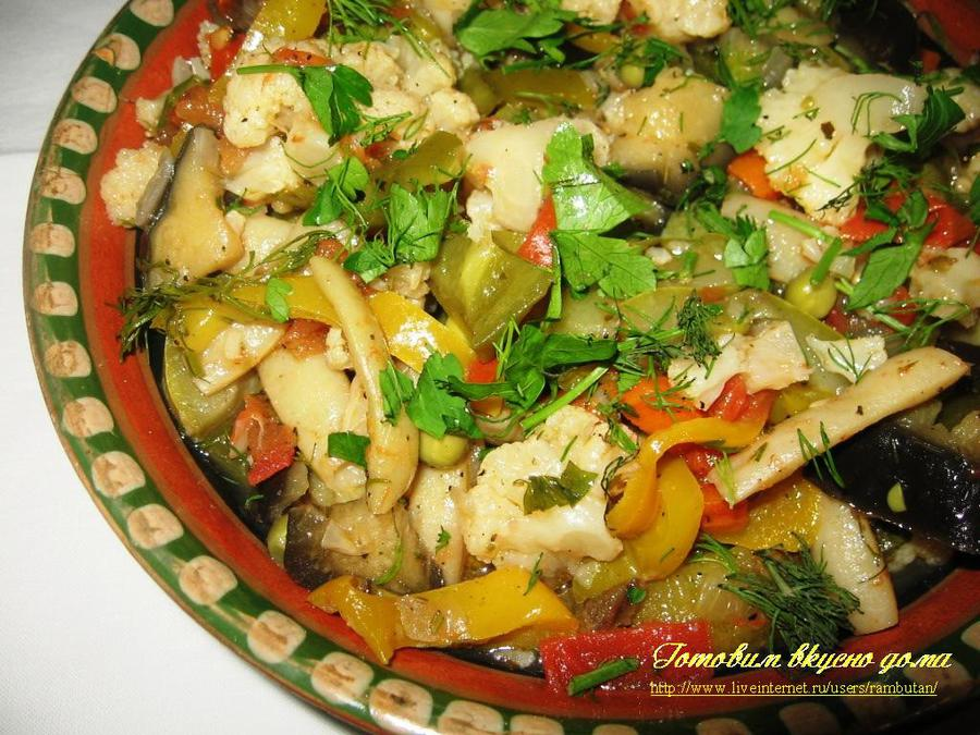 рагу овощей рецепт с фото капуста