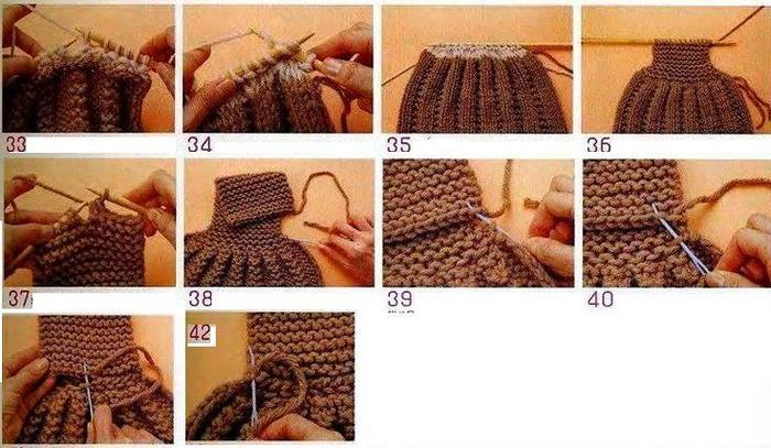 Вязание шарф с петлей 580