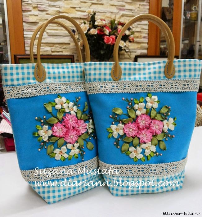 Туфелька на сумочке. Красивые идеи сумок с вышивкой лентами (5) (651x700, 420Kb)