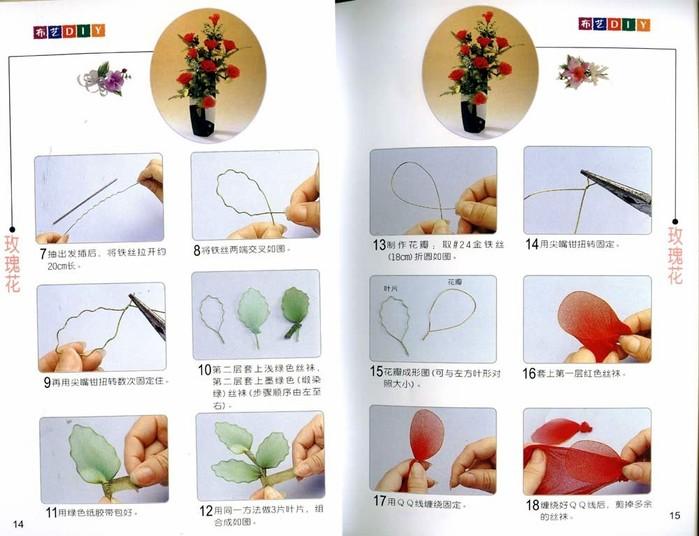 Цветы из капрона - журнал
