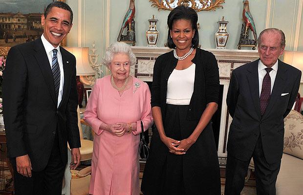 Королева Елизавета II с президентами США