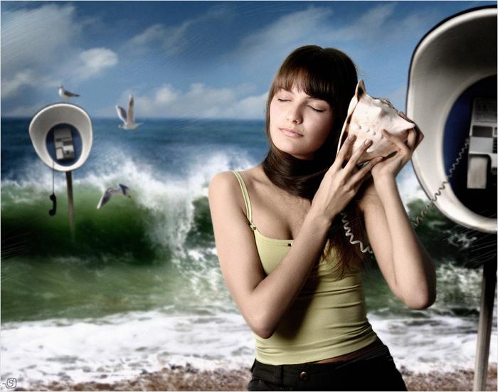 слушать море ракушка