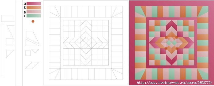 схема лоскутного одеяла.