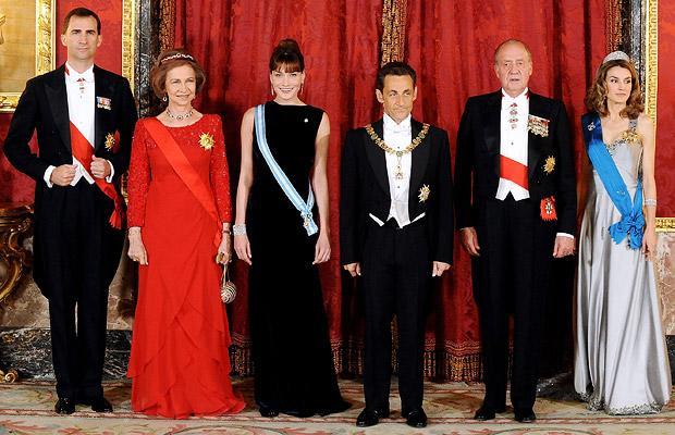 Николя Саркози и Карла Бруни-Саркози в Мадриде