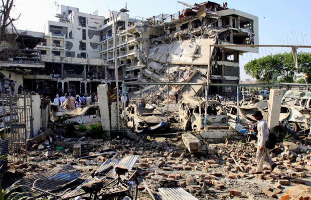 Взрыв отеля в Пакистане
