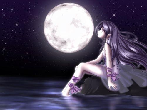 Девочка пад луной (500x375, 24Kb)