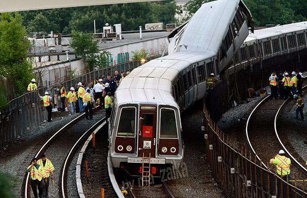 Столкновение поездов в Вашингтоне